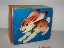 WESTERN GERMANY WIND UP HOPPING RABBIT BY ORIGINAL WORKS NEW IN BOX MIB! 1950's