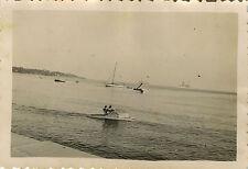 PHOTO ANCIENNE - VINTAGE SNAPSHOT - CANNES PÉDALO MER 1936 - PEDAL BOAT