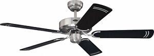 Design Deckenventilator ohne Lampe WESTINGHOUSE CYCLONE Stahl und Schwarz 132 cm