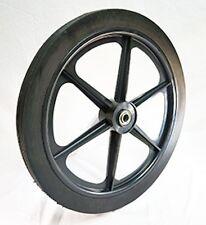 "20 X 1.75 Plastic Wheel Semi-Pneumatic Rib 3/4 Ball Bearing x 2-7/16"" Symmetrica"