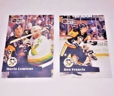 Pittsburgh Penguins Pro Set Hockey Cards Mario Lemieux #194 & Ron Francis #188