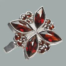 Size 7.25 Bohemian Rose Cut Garnet Sterling Silver Ring # SR-722 Jewelry Cert.