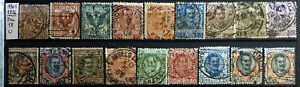 ITALY REGNO 1901 – 1926 FLOREALE 2 SERIE COMPLETE - 18 STAMPS U