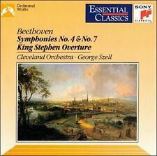 Beethoven: Symphonies Nos. 4 & 7; King Stephen Overture (CD, Jun-1992, Sony Musi