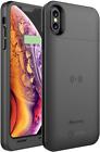 iPhone X Battery Case Qi Wireless Charging Compatible, Alpatronix BXX