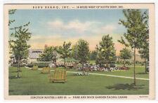 Park Rock Garden Bob's Bar-B-Q Rolling Prairie Indiana 1940 postcard