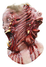 Halloween Costume BLOODY TWO-SIDED SIAMESE LATEX DELUXE MASK Haunted House NEW