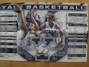 Yale Bulldogs--2014-15 Basketball Poster Schedule--Webster Bank