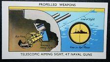 Royal Navy 4.7 Inch Naval Gun Sight   Vintage Colour Card
