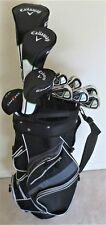 NEW Mens LH Callaway Golf Set Driver, Wood, Hybrid, Irons, Putter Cart Bag Lefty
