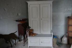 Antique Oak Hall Cupboard Settle