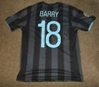 Manchester City Match worn/Issued Away Champs League Shirt Barry Signed