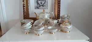 Mocca Service 12 teilig Porzellan creme gold Bavaria RW