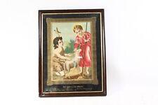 bel âge Cadre Photo En Bois Verre Cadre avec Tableau Enfant Jésus & Johannes