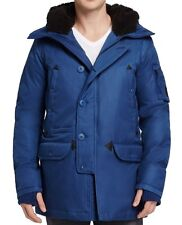 Spiewak NEW Blue Mens Size Medium M Hooded Aviation Parka Coat Jacket $655 #043