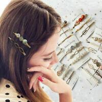 2019 Fashion Pearl Hair Clip Hairband Comb Bobby Pin Barrette Hairpin Headdress