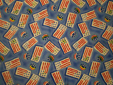 Funky AMERICAN FLAG Themed FABRIC (55cm x 50cm)