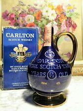 WHISKY – CARLTON SPECIAL SCOTCH WHISKY 14yo +BOX OLD PORCELAIN DECANTER 75cl – 4
