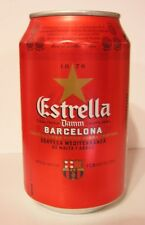 empty Estrella Damm Pils Can with FC Barcelona Crest / leere Dose; 330ml (Spain)