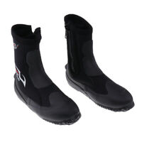 5mm Neoprene Zipper Wetsuit Boots for Diving Surfing Kayaking Sailing