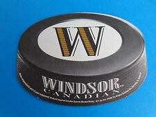 Beer Breweriana Coaster ~*~ WINDSOR Canadian Supreme Blended Whisky ~*~ ILLINOIS