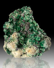 "7.5"" SharpGemmyBlueGreen FLUORITE Crystals with GALENA Rogerley Mine UK for sale"