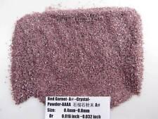 A# Natural Red Garnet Quartz Stone Crystal Specimen Grinding Sand Powder Healing
