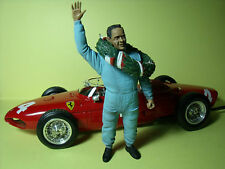 FIGURINE  1/18  PHIL  HILL  AVEC  GERBE  VROOM   UNPAINTED  FOR  CMC  EXOTO