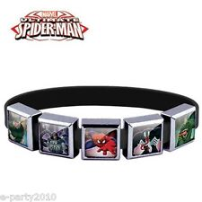 ULTIMATE SPIDER-MAN ROXO Medium SILICONE BRACELET (5 Charm) ~ Party Supplies
