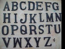 """3 """"/ 75mm Fonte Fer Forgé Noir Antique Maison Porte Lettres De L'Alphabet"""