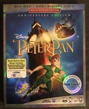 DISNEY'S PETER PAN BLU RAY DVD + SLIPCOVER SIGNATURE EDITION FREE SHIPPING