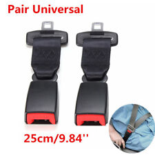 2PCS 25cm/9.84'' Car Seat Belt Extenders Safety Belt Extension Buckles Universal
