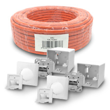 Cat 7 verlegekabel 100m cable de red 2x red lata cat6a lata LAN s/cable FTP