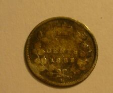 1882H CANADA SILVER 5 CENTS COIN