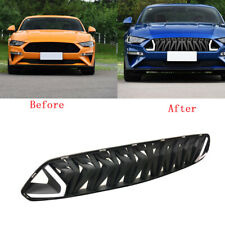 Front Hood Upper Grille Mesh Grill Red LED For Ford Mustang 18-19 Armor Style