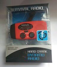 NEW Dynamo Hand Crank Survival Radio Built-in Solar Panel LED Flashlight BUG OUT