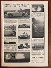 Vintage 1963 Original Print Ad Austin Healey 3000 MK. III Convertible Sports Car
