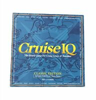 """New In Open Box Cruise IQ Board Game Classic Edition w/ 2"""" Genuine Pewter Ships"""