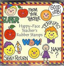 Hero Arts HAPPY-FACE TEACHER Wood Mounted Stamps LL293