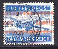 GERMANY MC1 RED INSELPOST OVERPRINT 1942 CDS VF SOUND