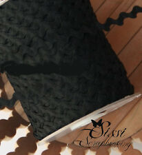 LOT 5M RUBAN GALON CROQUET RIC RAC SERPENTINE NOIR BLACK SCRAP COUTURE SCRAP 1cm