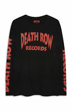 PRIMARK MENS DEATH ROW RECORDS LOGO LONG T SHIRT OFFICIAL HIP HOP TUPAC BNWT XS