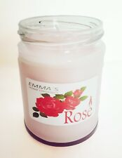 Organic Rose Scented Candle in a Jar