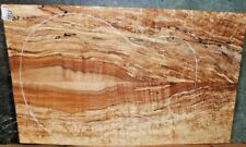 Flame Spalted Curly Maple Wood #7825 Luthier 5A Wild BASS Guitar Top set