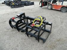 """New 72"""" HD Log Root brush Grapple Bucket 2 Cylinder USA made Attachment"""