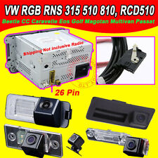 HD RGB 26Pin RNS315 RNS510 RCD510 car camera for Skoda Fabia Octavia Superb Yeti