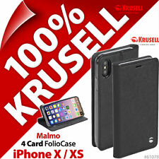Krusell Malmo Flip Case Cover Flip Wallet Stand Folio for Apple iPhone X / XS