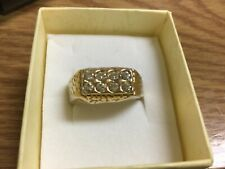 Men's Fashion Ring Size 11 New listing 14k Ge Gold Electroplated
