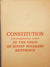 Constitution of the Union of Soviet Socialist Republics URSS 1969 Costituzione