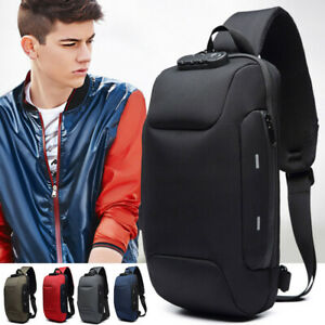 Backpack With 3-Digit Lock Shoulder Bags Waterproof USB Charge 1 pcs Anti-theft